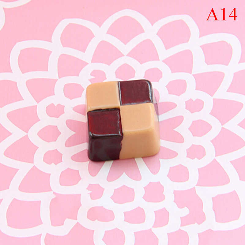 חמוד סימולציה מזון ChocolateDIY עוגת הודעה מידע מקרר קיר נייר מקרר מדבקת בית תפאורה אבזרים