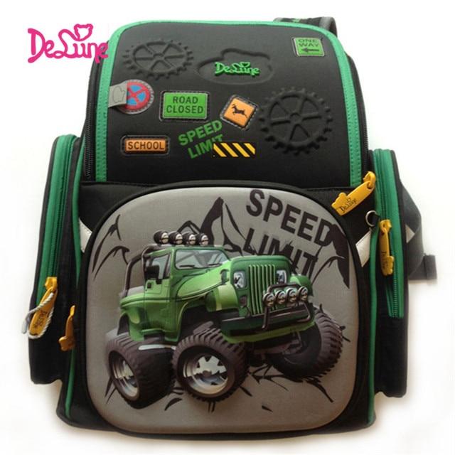 4c80ccd8d7 Delune Children Burden Reducing Primary School Bag 3D SUV Car Print  Orthopedic SCHOOL School Backpack Mochila