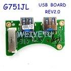 ROG G751JL USB BOARD for ASUS G751 G751JT G751JM G751JY G751JL USB 3.0 Board Platelets Laptop IO Board Interface Board