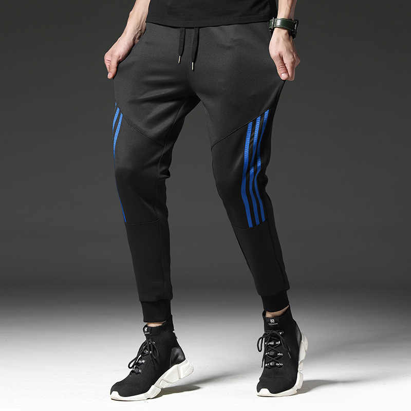 Спортивные 2019 повседневные штаны мужские тренировочные брюки полосатые мужские хлопковые спортивные повседневные штаны прямые брюки хип хоп бренд High Street