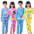DISCOUNTS New 2016 Brand Cartoon  Kid Pyjamas Autumn& Winter Boy Minions Pajamas Set Children Pyjamas christmas Kids Cloth Set
