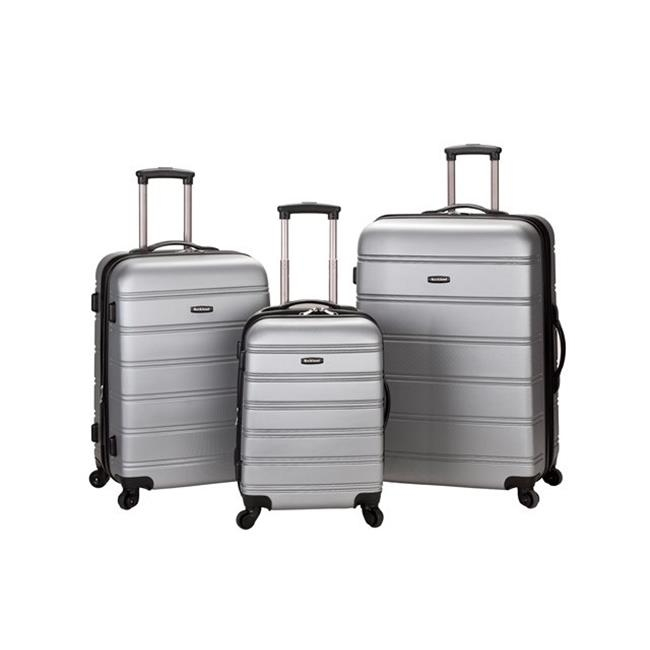 ROCKLAND F160-SILVER MELBOURNE 3 PC ABS LUGGAGE SET migos melbourne