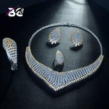 Женский комплект ювелирных изделий be 8 роскошный геометрического