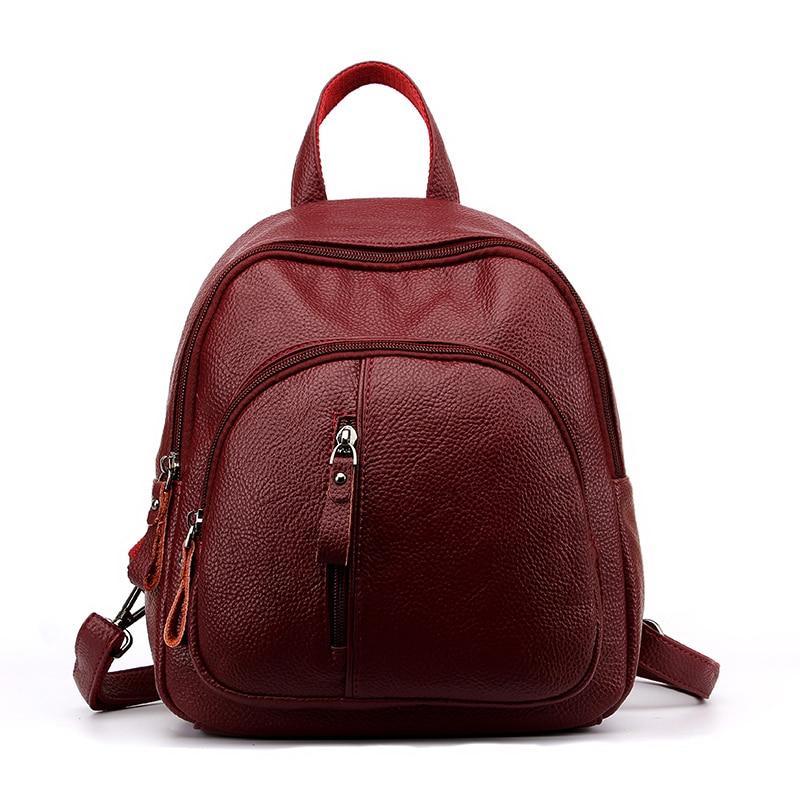 Fashion Leisure Women Backpacks Womens Quality Leather Backpacks Female School Shoulder Bags for Teenage Girls Travel Back pack