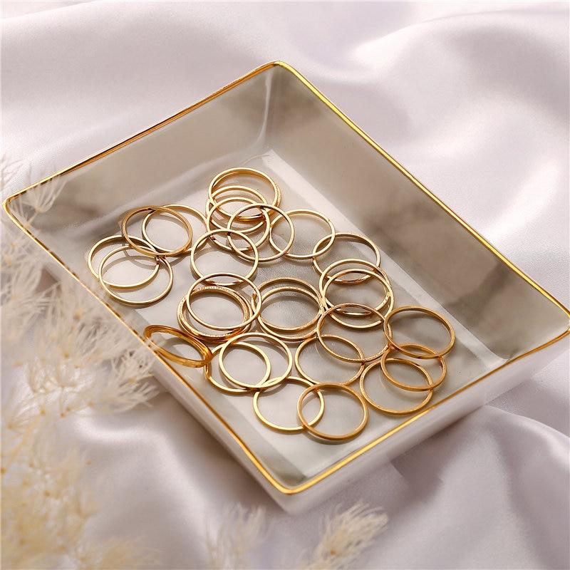 Σετ δαχτυλίδια χρυσό-ασημί μεταλλικά if me 30 τμχ msow