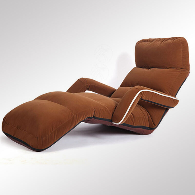 Floor Folding Adjsutable Chaise Lounge With Armrest Living Room Furniture Recliner Chair Sofas and Armchairs Lounger Bedroom
