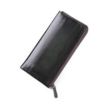 TERSE_Handmade leather purse large capacity genuine leather clutch bag for men business fashion bag engraving service