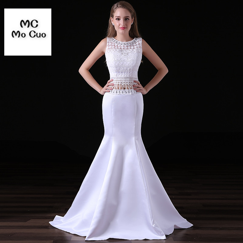 2017 Charming Bateau Neckline Mermaid Wedding Dress Two