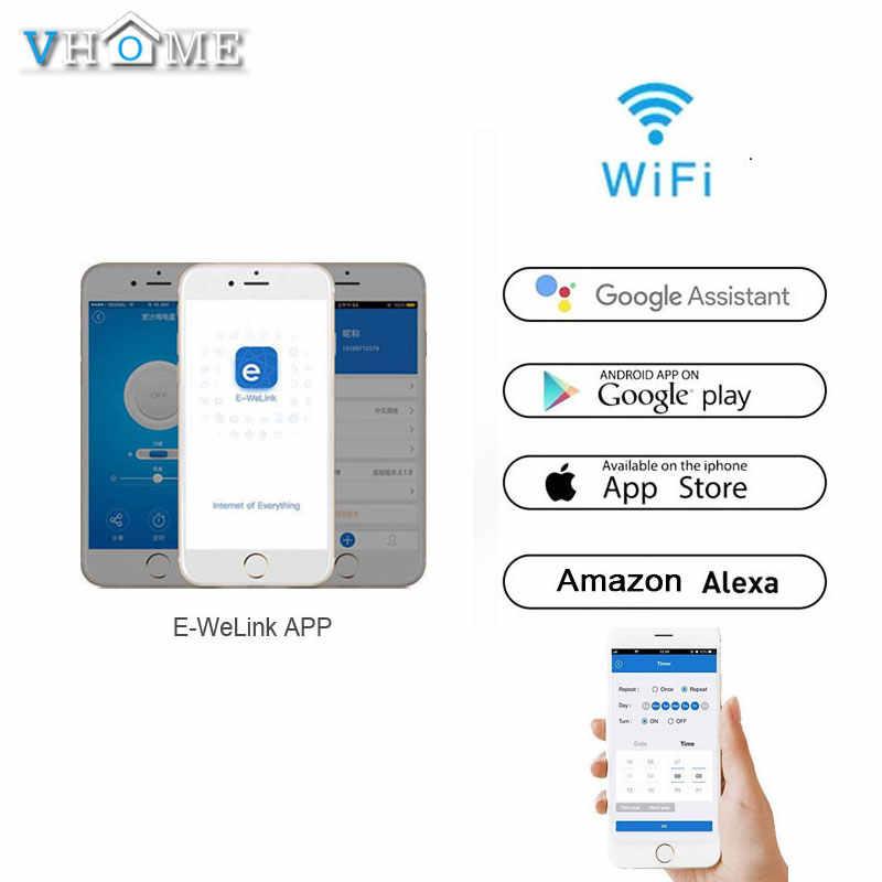 Vhome Ewelink Touch Switch,2 4G Wifi Smart Home Touch Switch Panel,EU/UK  Standard Wifi Control Alexa App,Smart Wall panel