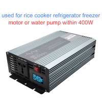 best full 1000W solar power inverter pure sine wave 12V 220V inverter with utility fault prompts display short circuit protect