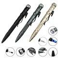 8-в-1 многофункциональная тактическая ручка для выживания на открытом воздухе фонарик для самозащиты аварийный стеклянный выключатель отве...