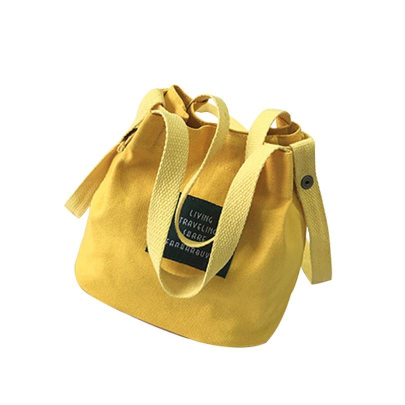 Canvas Handbag Mini Handabag Shoulder Bag Bag Crossbody Messenger Bags Bucket Pack 8.30