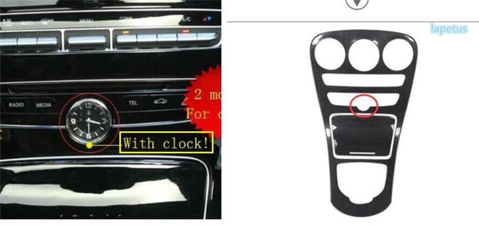 Lapetus Pour Mercedes Benz CLASSE C W205/GLC X253 2015-2018 Center Porte-Gobelet D'eau Boîte De Vitesses Décoration cadre Cover Version
