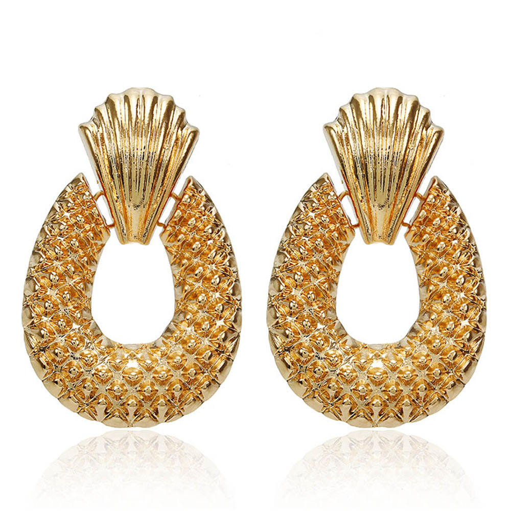 Vanmos 2019 New Fashion Gold Color Large Drop Earrings Statement Women Temperament Dangle Earrings Jewelry Geometric Brincos in Drop Earrings from Jewelry Accessories