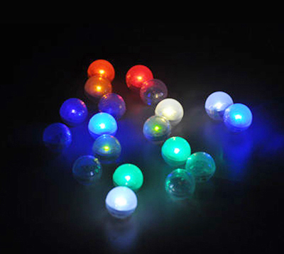2016 Limited Rushed Sales Free shipping Multi Colors 1200pcs/lot 11colors Led Ball Lights for Indoor Outdoor Home Decoration