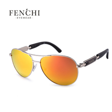 Fenchi 2017 sunglasses metal hot rays driver pilot mirror fashion design new colourful sunglasses high quality