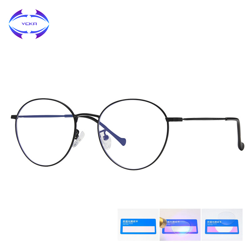 VCKA Computer Anti Blue Light Blocking Glasses Alloy Goggles Women Eyeglasses Gaming Gamer Men Radiation Eyewear Lentes Luz Azul