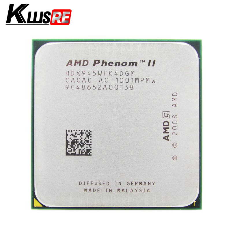 AMD Phenom II X4 945 Processor Quad-Core 3.0GHz 6MB L3 Cache Socket AM2+AM3 scattered pieces cpu