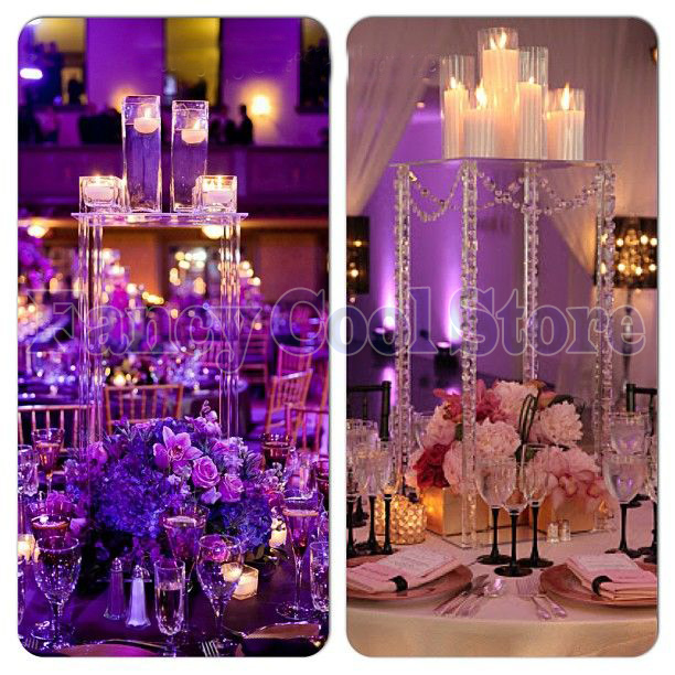 60cm Height by 30cm side length Wedding acrylic crystal Table Centerpiece Flower Stand Table decoration 10pcs/lot