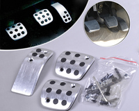 New High Quality Silver Color Sport Fuel Brake Racing MT Pedals Pads For Peugeot 206 206CC