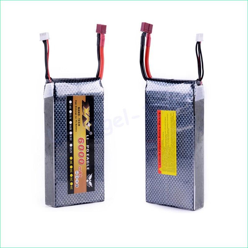 Original 6000mah 3S 11 1V 30C MAX 70C lipo battery lipo batteria xt60 T plug AKKU