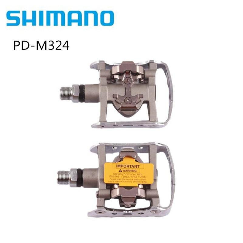 シマノ PD M324 多目的 SPD ペダル Mtb クリップクリップツーリング山 M324  グループ上の スポーツ & エンターテイメント からの 自転車のペダル の中 1