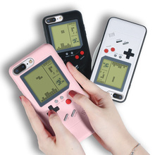 Cases For iPhone 6 6s 7 8 Plus Retro GB Gameboy Tetris Soft TPU Can Play Blokus Game Console Back Cover X XS XR Max