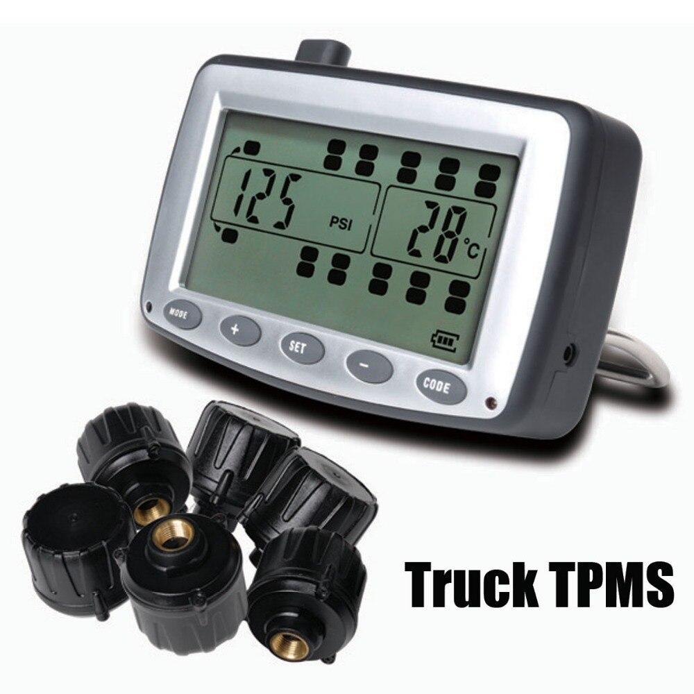 Шин Давление мониторинга Системы автомобиль TPMS с 6 шт. внешний Датчики грузовик Прицепы, RV, автобус, миниатюрный легковых автомобилей