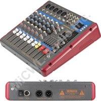 프로 레드 그레이 7 웨이 가라오케 스테이지 홈 믹서 믹싱 콘솔 사운드 음성 프로세서 무선 블루투스 SMR-701USB