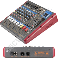 Pro Red Gray 7 Way Karaoke Stage Home Mixer Mixing Console Sound Voice Processor Wireless Bluetooth SMR 701USB