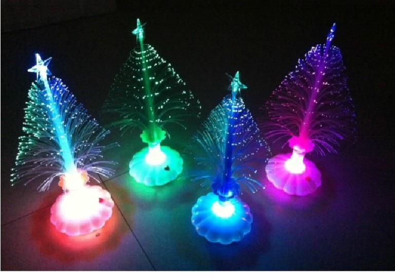 lichtgevende kerstboom nieuwjaar decoratieve verlichting kleurrijke glasvezel lichtgevende kerstboom