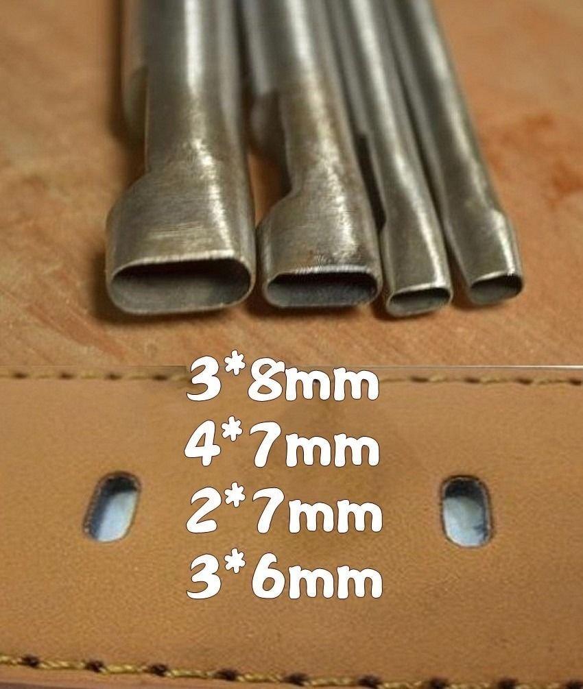 Leidenschaft 4-größe Ovale form Locher Cutter Gurt-uhr-band Dichtung Hohl Leder-werkzeug