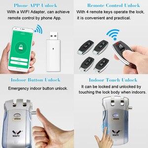 Image 5 - Wafu 010 ワットワイヤレス wifi スマートドアロック電子ドアロックアプリでリモートロック解除 4 リモートキー