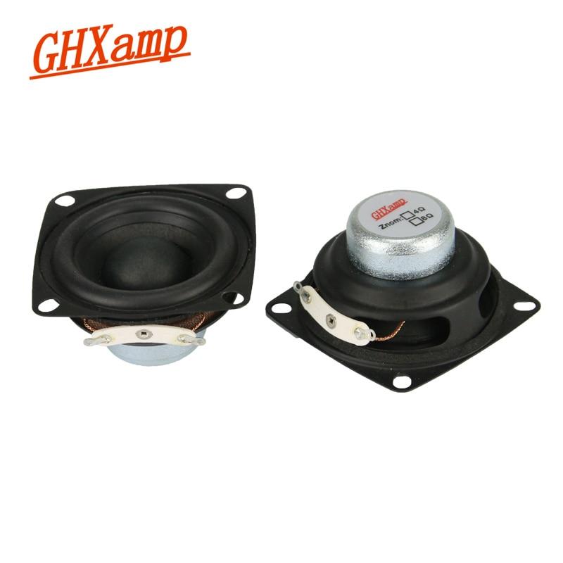 Ghxap pulgadas 2 Unid 2 pulgadas 4OHM 12 W altavoces de gama completa magnéticos NdFeB alta potencia Alto Treble Vocal Sound Escritorio PC altavoz DIY