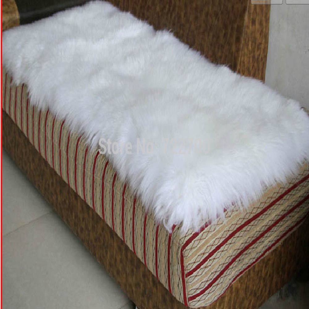 Decorative White Sheepskin Rug Natural Sheep Carpet Real