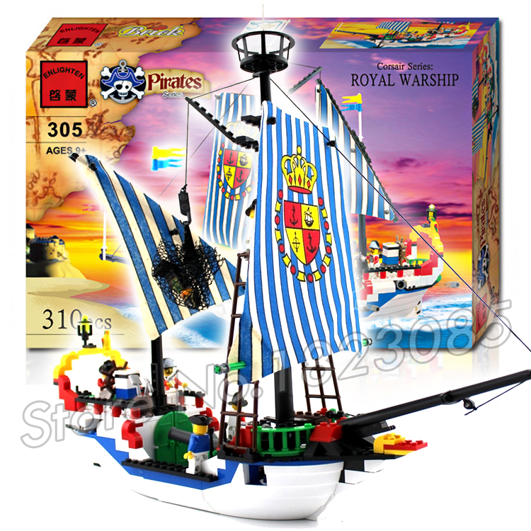 310pcs 2016 new Pirate Series Royal Warship Ship Model Building Blocks Bricks Boys Toys Gifts Compatible With Lego lepin 16002 4695pcs movie series pirate ship metalbeard sea cow model building blocks bricks compatible 70810 gift