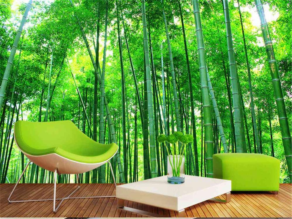 free shipping 3d large wallpaper sofa tv background wall living room nature landscape green. Black Bedroom Furniture Sets. Home Design Ideas