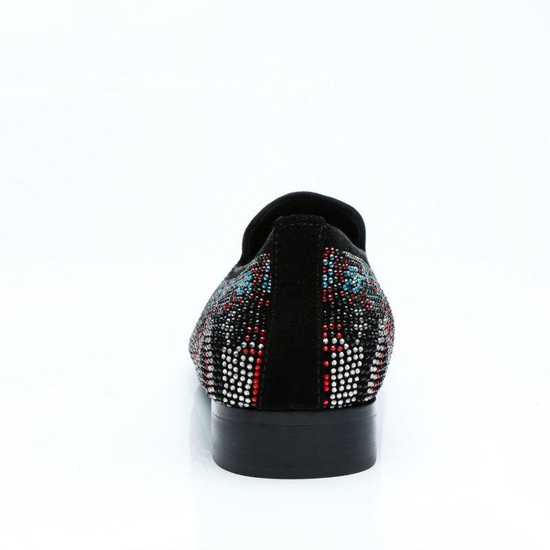 As Negro Diamante Zapatos on Hombres Hombre Vestido as Ante Mocasines Pic Rhinestone De Colorido Shooegle Fiesta Slip Pic Casual Moda Boda ETSqw5