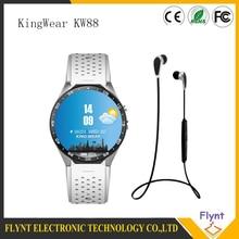 KingWear KW88 Android 5.1 Amoled 3G Smartwatch Telefon MTK6580 Quad Core 1,39 GHz GPS Schwerkraft-sensor Schrittzähler Pulsmesser