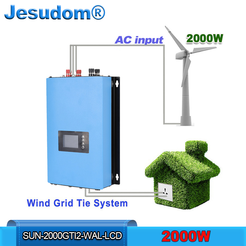 2000W Wind Grid Tie Inverter with Dump Load Resistor MPPT Pure Sine Wave Limiter Wifi Function