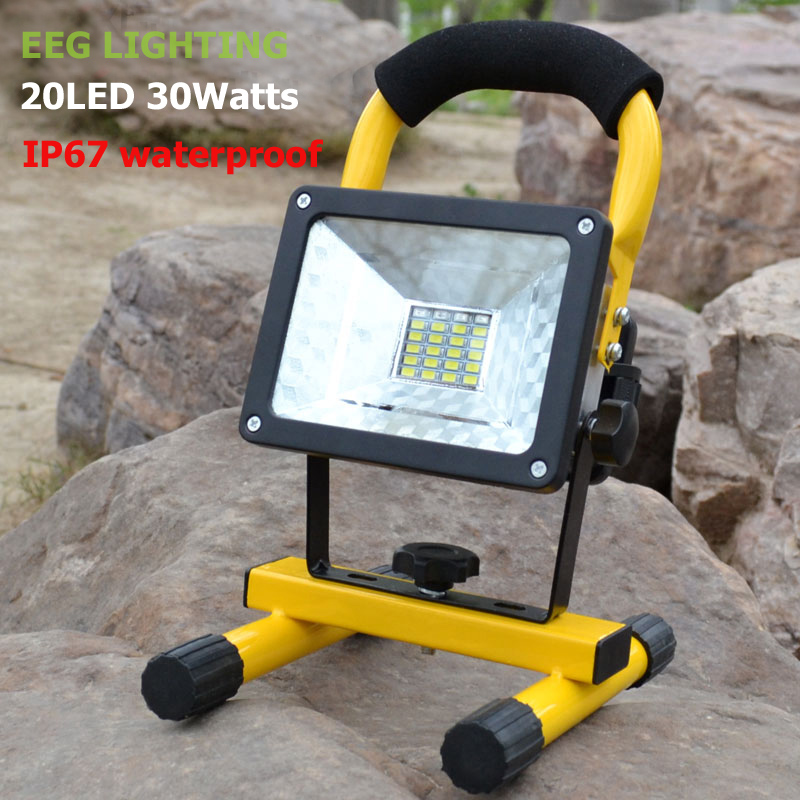 LED Floodlight 30W 24LEDs Led Flood Light Spotlight Waterproof Outdoor Wall Lamp Projectors ultrathin led flood light 50w waterproof ip66 floodlight spotlight outdoor lighting free shipping