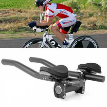 Road Mountain Bike Bicycle Rest Handle Bar Clip on Aluminum Alloy Sponge Triathlon ED-shipping Handlebar  Accessories