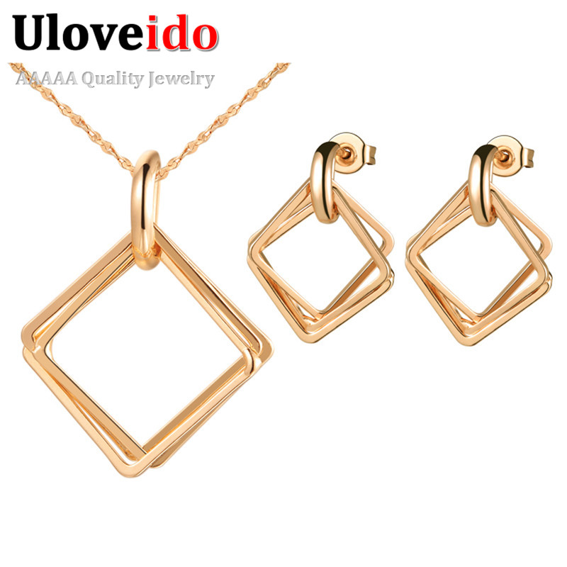 5 Off Wedding Accessories Square Rose Gold Color Jewelry Set Bridal