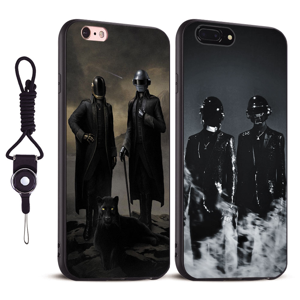 Daft Punk duo band Soft Silicone Tpu Phone case Cover Shell For Apple iPhone 5 5S SE 6 6S 6Plus 6sPlus 7 7Plus 8 8Plus X