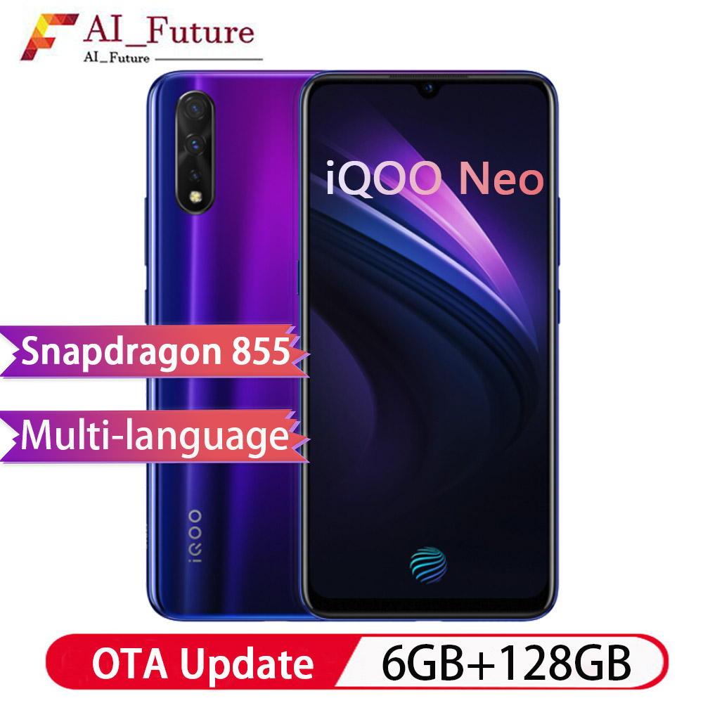 Nouveau Smartphone VIVO iQOO Neo 6GB 128GB Snapdragon 845 Support 22.5W Charge rapide 6.38