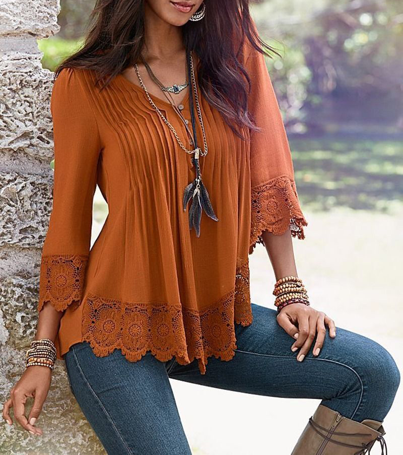 Long Sleeve Women Tshirts 2018 Spring Autumn Deep V Neck Top T-Shirts Elegant Loose Shirt Casual Tees Plus Size Tops 4XL