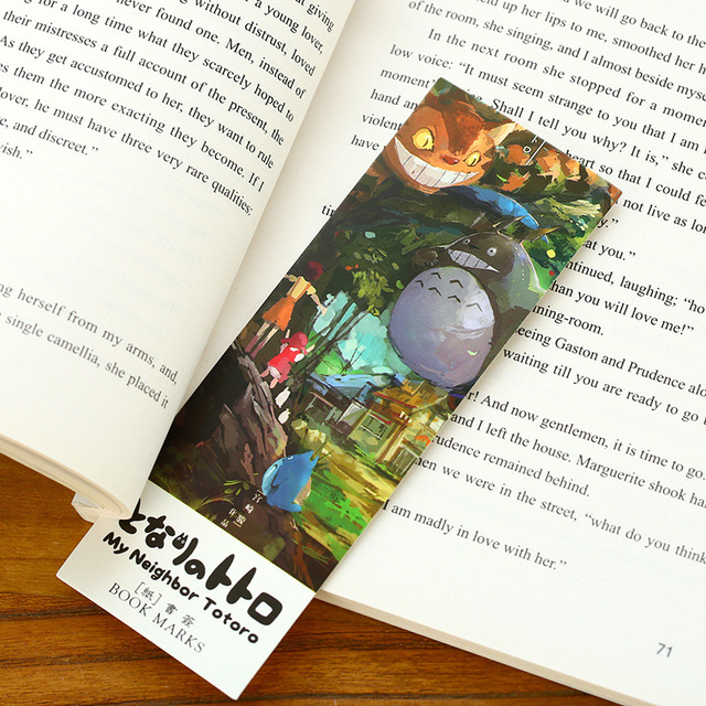 Totoro Paper Bookmarks