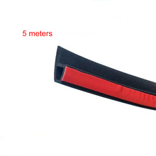 5M 8M P TypeCar Door Sealing Strip Weatherstrip Edge Trim Car Door Rubber Seal Sound Insulation Auto Rubber Seal Strips