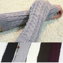 Fashion Household gloves Winter Mitten Warm Unisex Men Women Arm Warmer Fingerless Knitted Long Gloves