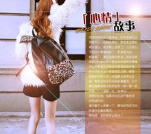 Женская Ретро Leopard Заклепки Рюкзак Школьный ИСКУССТВЕННАЯ Кожа Панк школьные сумки для подростков оптовая